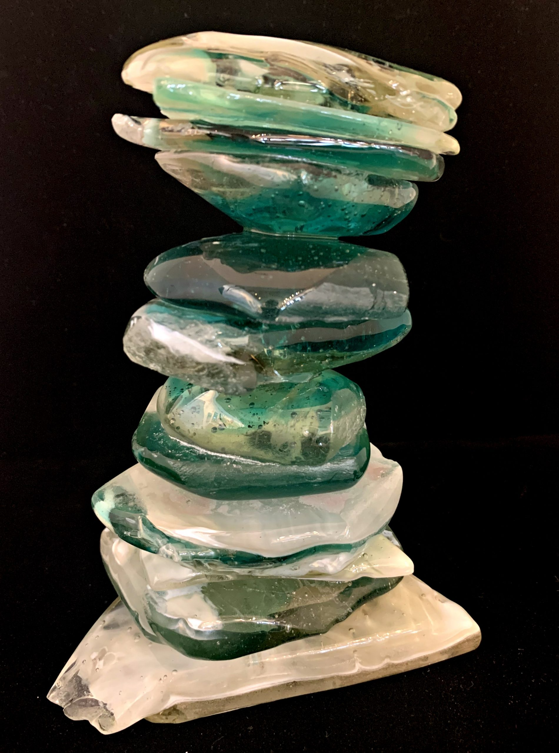 Cast Glass Cairn Sculpture #56 by Heather Cuell | Effusion Art Gallery + Cast Glass Studio, Invermere BC