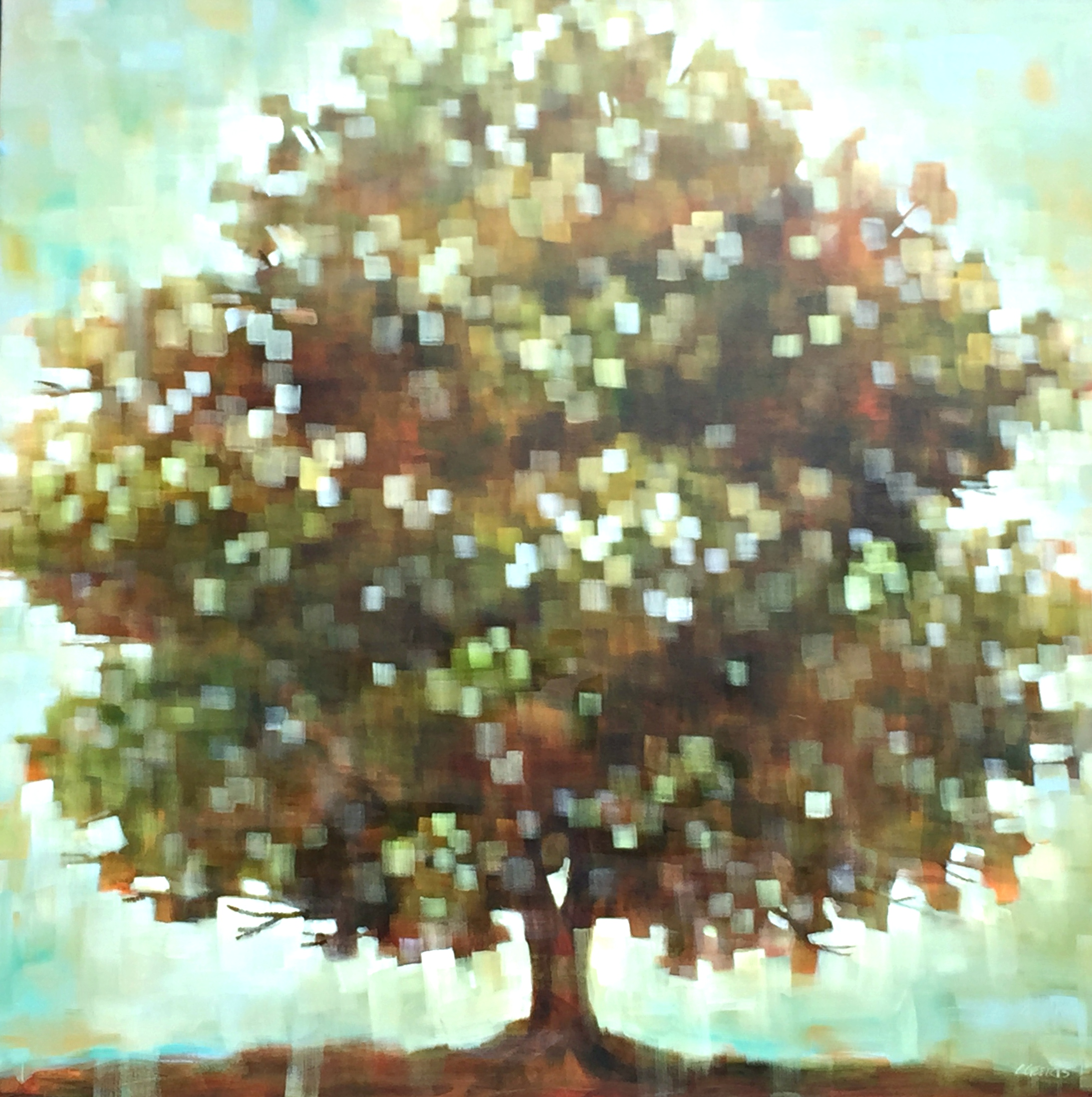 Ease, acrylic tree painting by Connie Geerts | Effusion Art Gallery + Glass Studio, Invermere BC