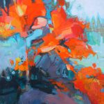 Where are all the Flowers?, acrylic flower painting by Becky Holuk   Effusion Art Gallery + Glass Studio, Invermere BC
