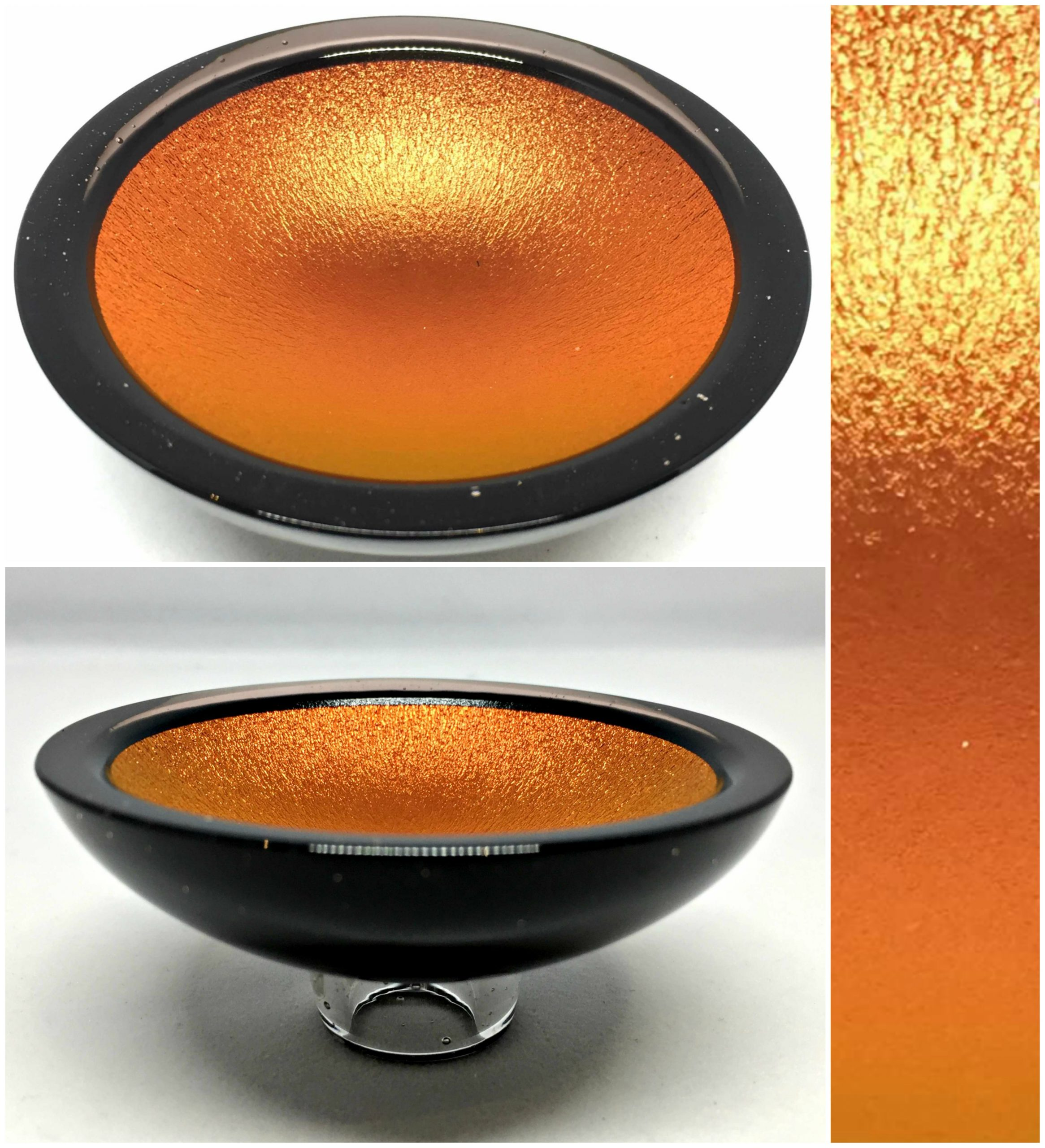 Thing of Beauty 3407, one-of-a-kind multichrome dichroic glass bowl by Jo Ludwig | Effusion Art Gallery + Glass Studio, Invermere BC