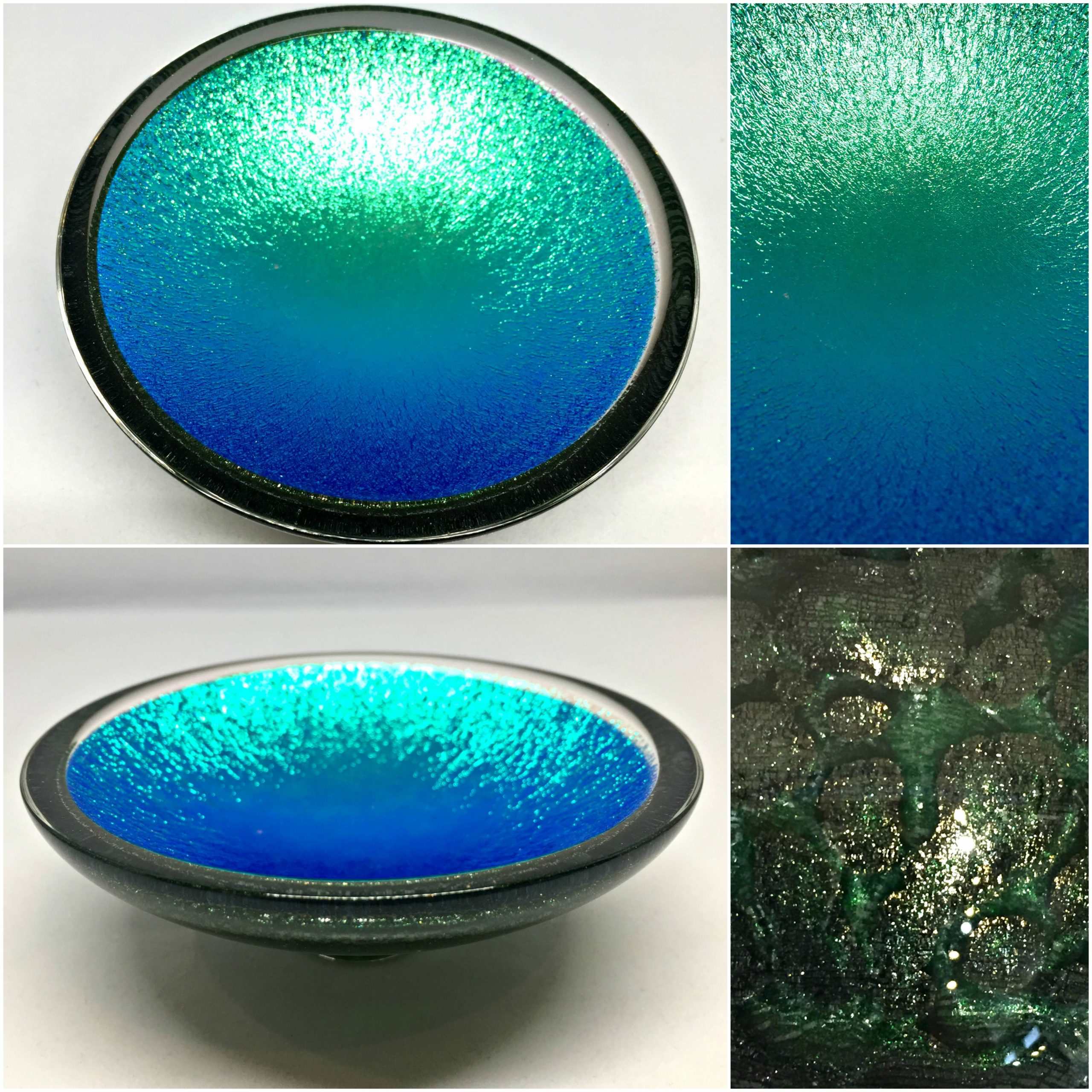 Thing of Beauty 3098, one-of-a-kind multichrome dichroic glass bowl by Jo Ludwig | Effusion Art Gallery + Glass Studio, Invermere BC