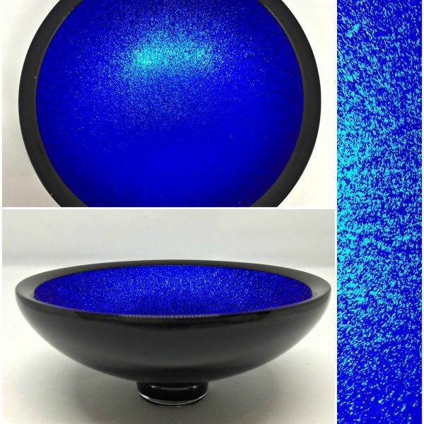 Thing of Beauty 3222, one-of-a-kind multichrome dichroic glass bowl by Jo Ludwig   Effusion Art Gallery + Glass Studio, Invermere BC