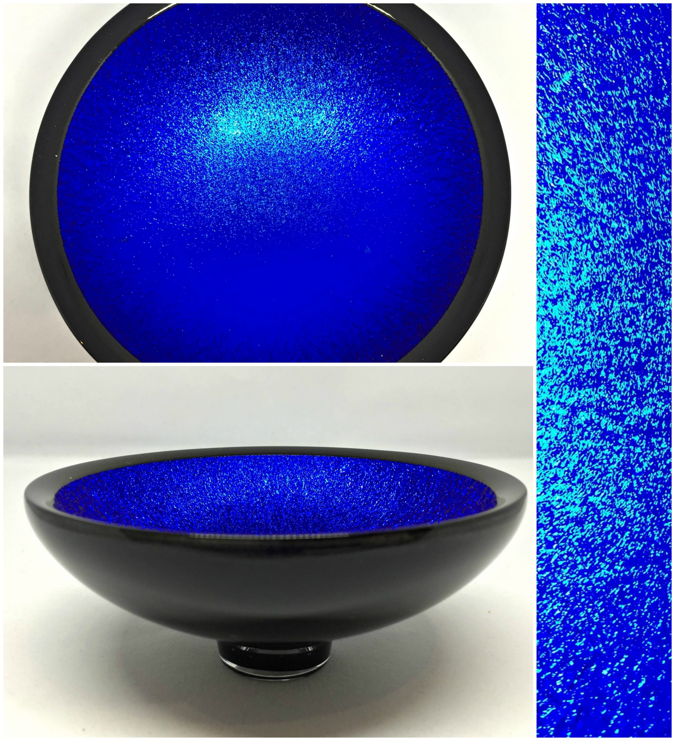 Thing of Beauty 3222, one-of-a-kind multichrome dichroic glass bowl by Jo Ludwig | Effusion Art Gallery + Glass Studio, Invermere BC
