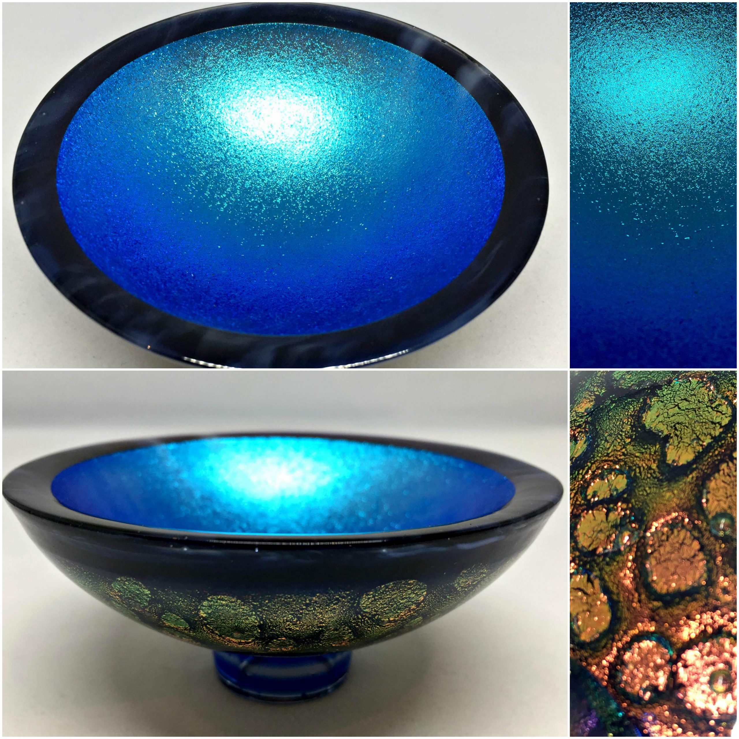 Thing of Beauty 3324, one-of-a-kind multichrome dichroic glass bowl by Jo Ludwig | Effusion Art Gallery + Glass Studio, Invermere BC