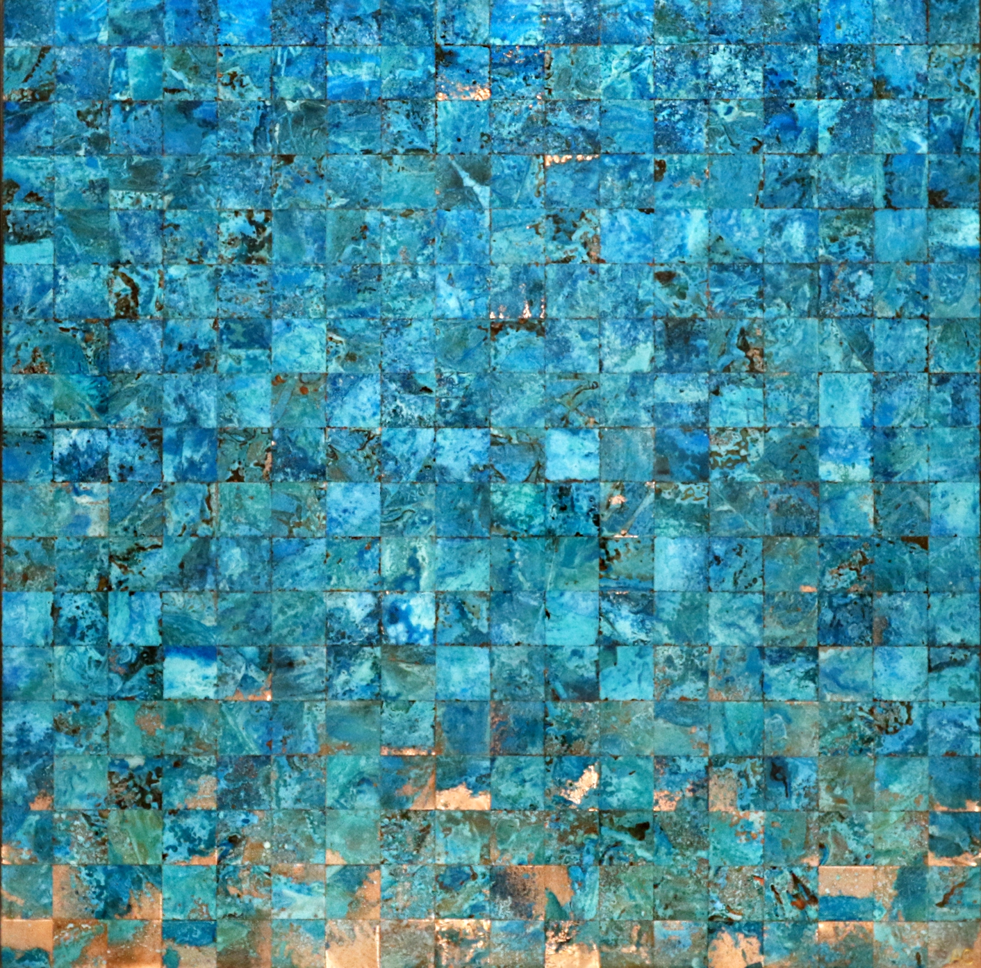 Glacial, copper painting by Adam Colangelo | Effusion Art Gallery + Cast Glass Studio, Invermere BC