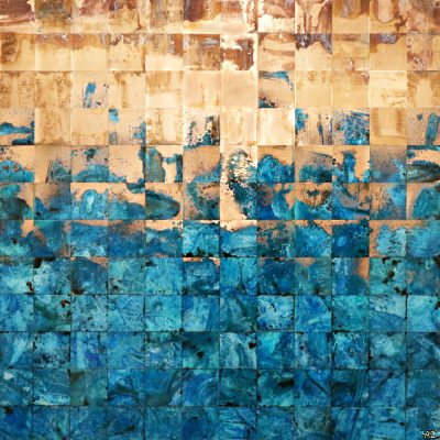 Life is but a Dream, copper painting by Adam Colangelo   Effusion Art Gallery + Cast Glass Studio, Invermere BC