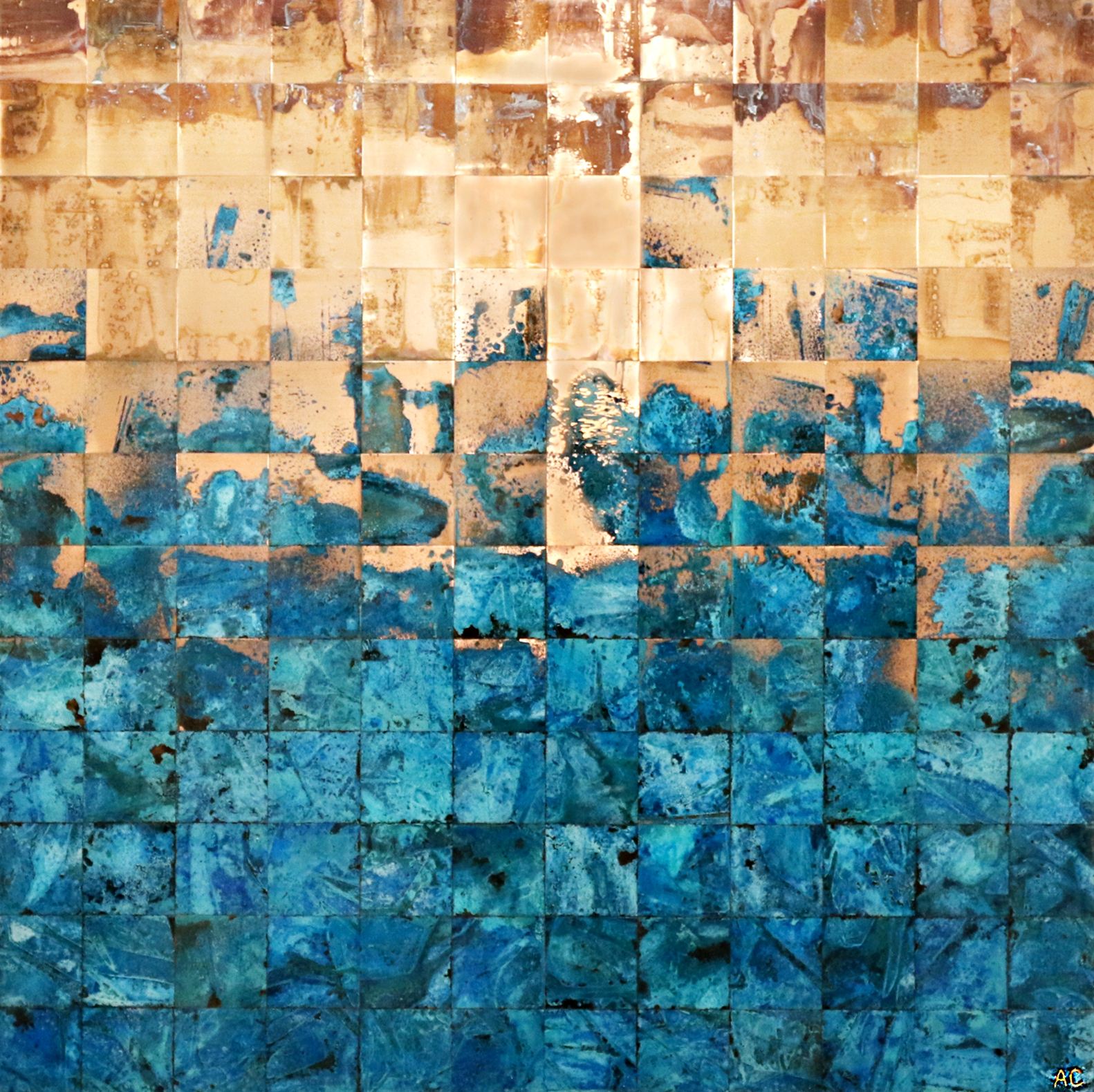 Life is but a Dream, copper painting by Adam Colangelo | Effusion Art Gallery + Cast Glass Studio, Invermere BC