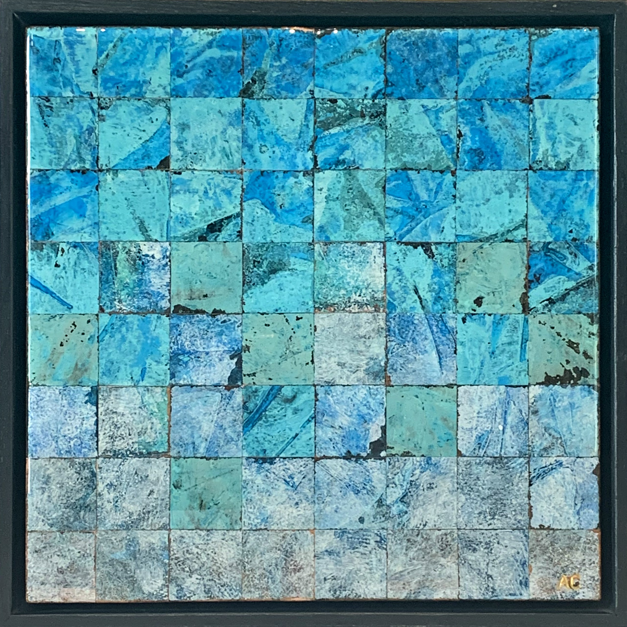 Square Foot Art #1, copper painting by Adam Colangelo | Effusion Art Gallery + Cast Glass Studio, Invermere BC