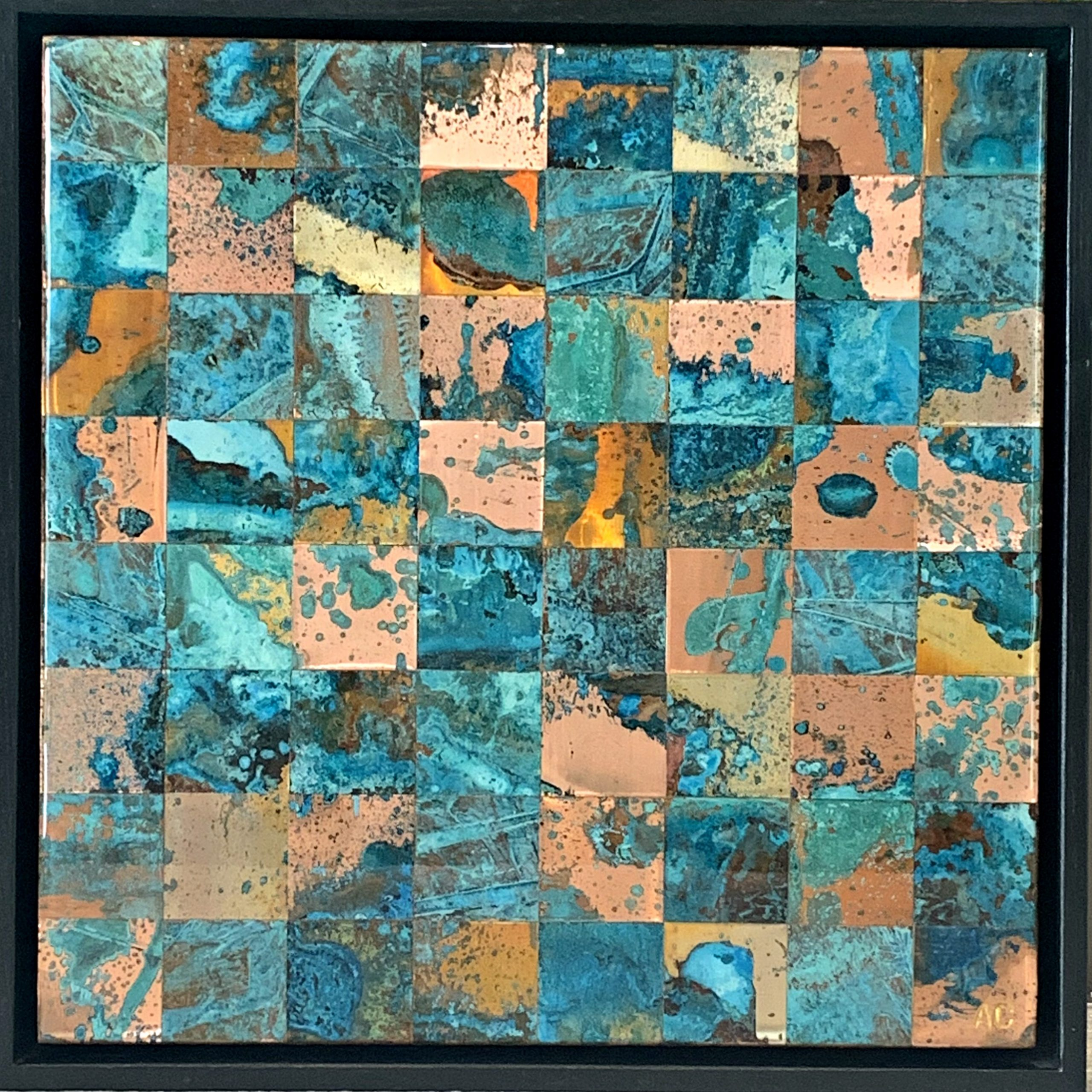 Square Foot Art #15, copper painting by Adam Colangelo | Effusion Art Gallery + Cast Glass Studio, Invermere BC