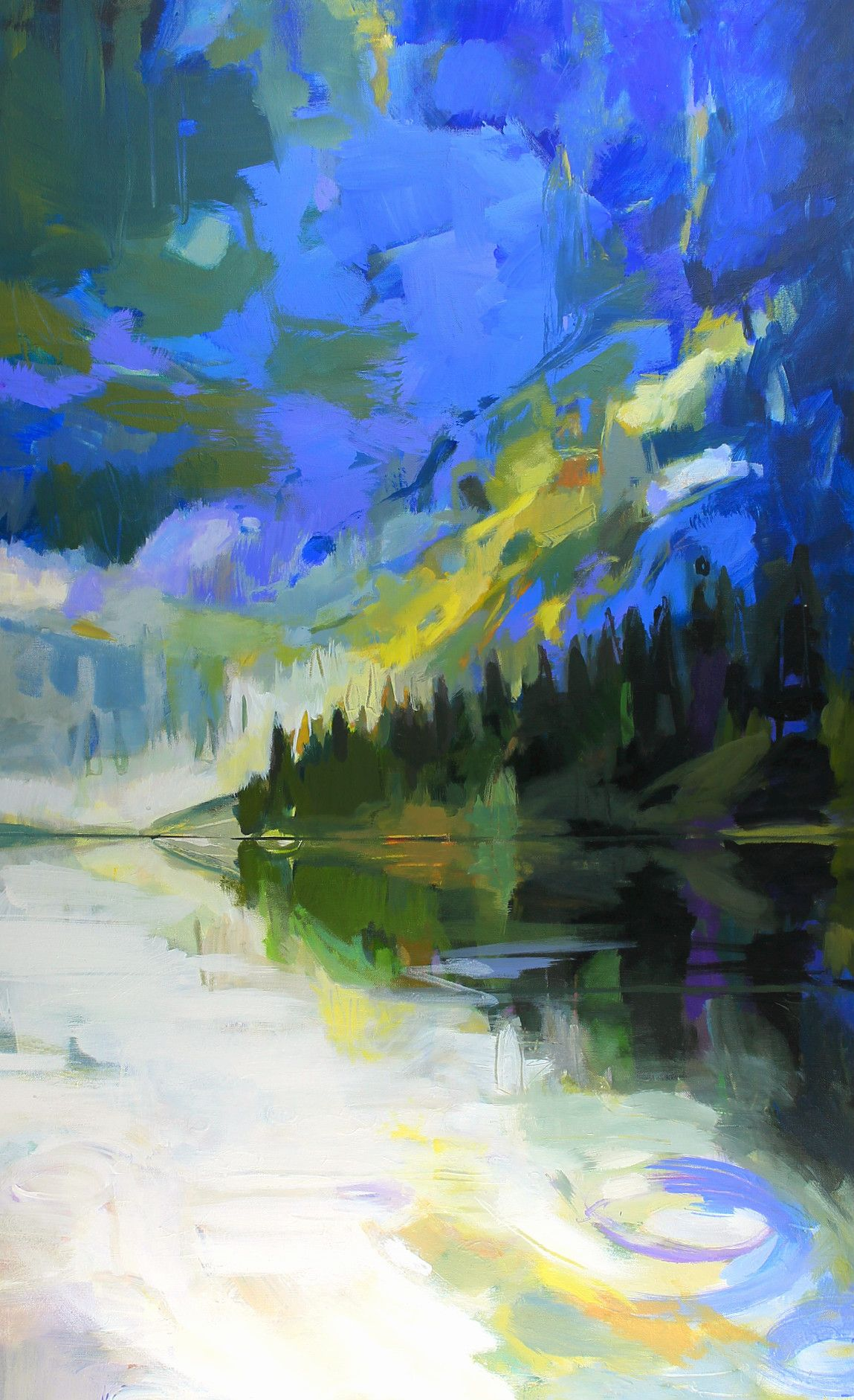 Awesome Rawson, impressionist landscape painting by Becky Holuk | Effusion Art Gallery +  Glass Studio, Invermere BC
