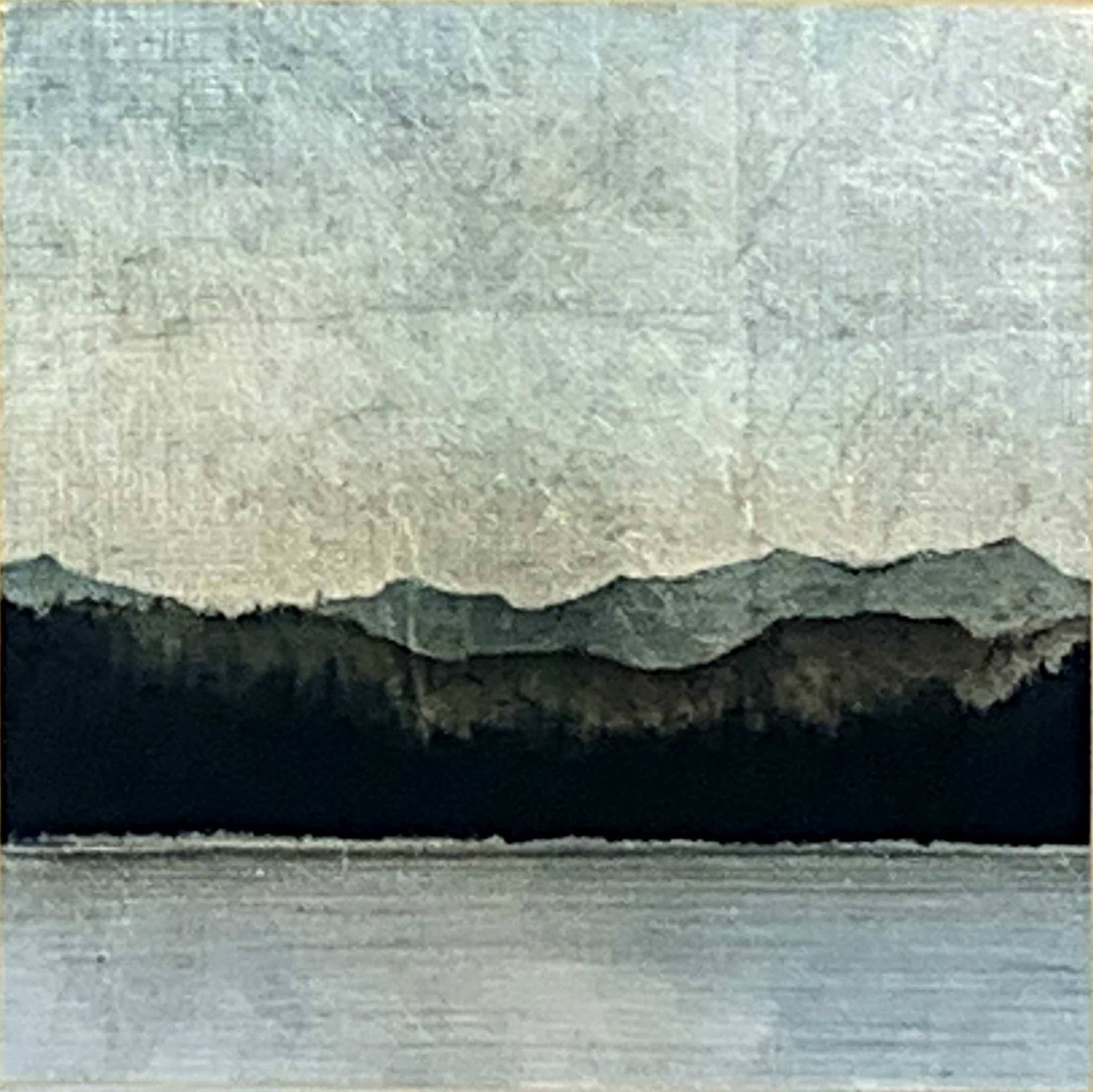 181, mixed media landscape painting by David Graff | Effusion Art Gallery + Cast Glass Studio, Invermere BC