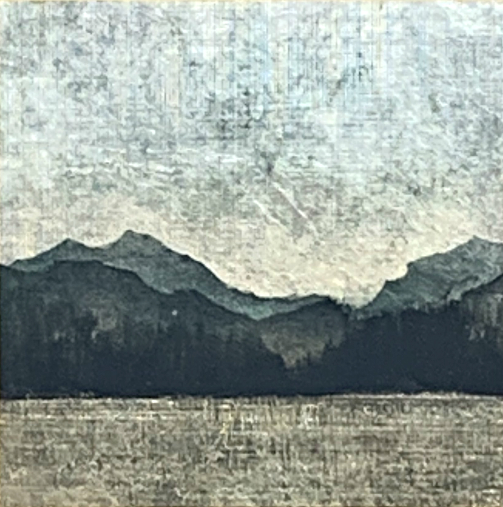 182, mixed media landscape painting by David Graff | Effusion Art Gallery + Cast Glass Studio, Invermere BC
