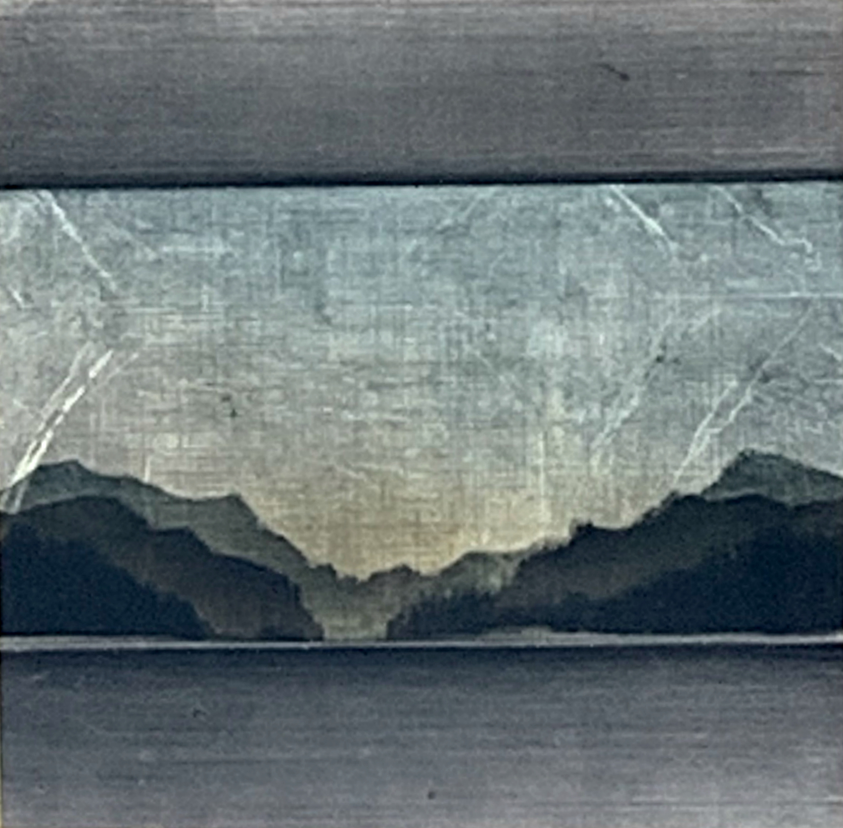184, mixed media landscape painting by David Graff | Effusion Art Gallery + Cast Glass Studio, Invermere BC