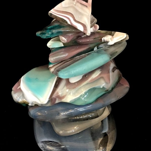 Rocky Mountain Cairn 46, cast glass sculpture by Heather Cuell   Effusion Art Gallery + Cast Glass Studio, Invermere BC