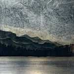 556, mixed media landscape painting by David Graff | Effusion Art Gallery + Cast Glass Studio, Invermere BC
