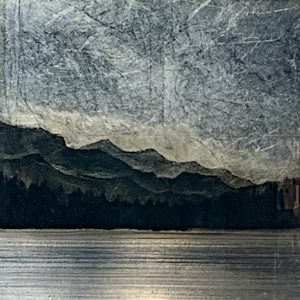 556, mixed media landscape painting by David Graff   Effusion Art Gallery + Cast Glass Studio, Invermere BC