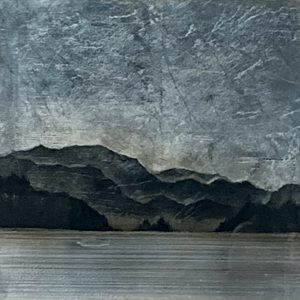 557, mixed media landscape painting by David Graff   Effusion Art Gallery + Cast Glass Studio, Invermere BC