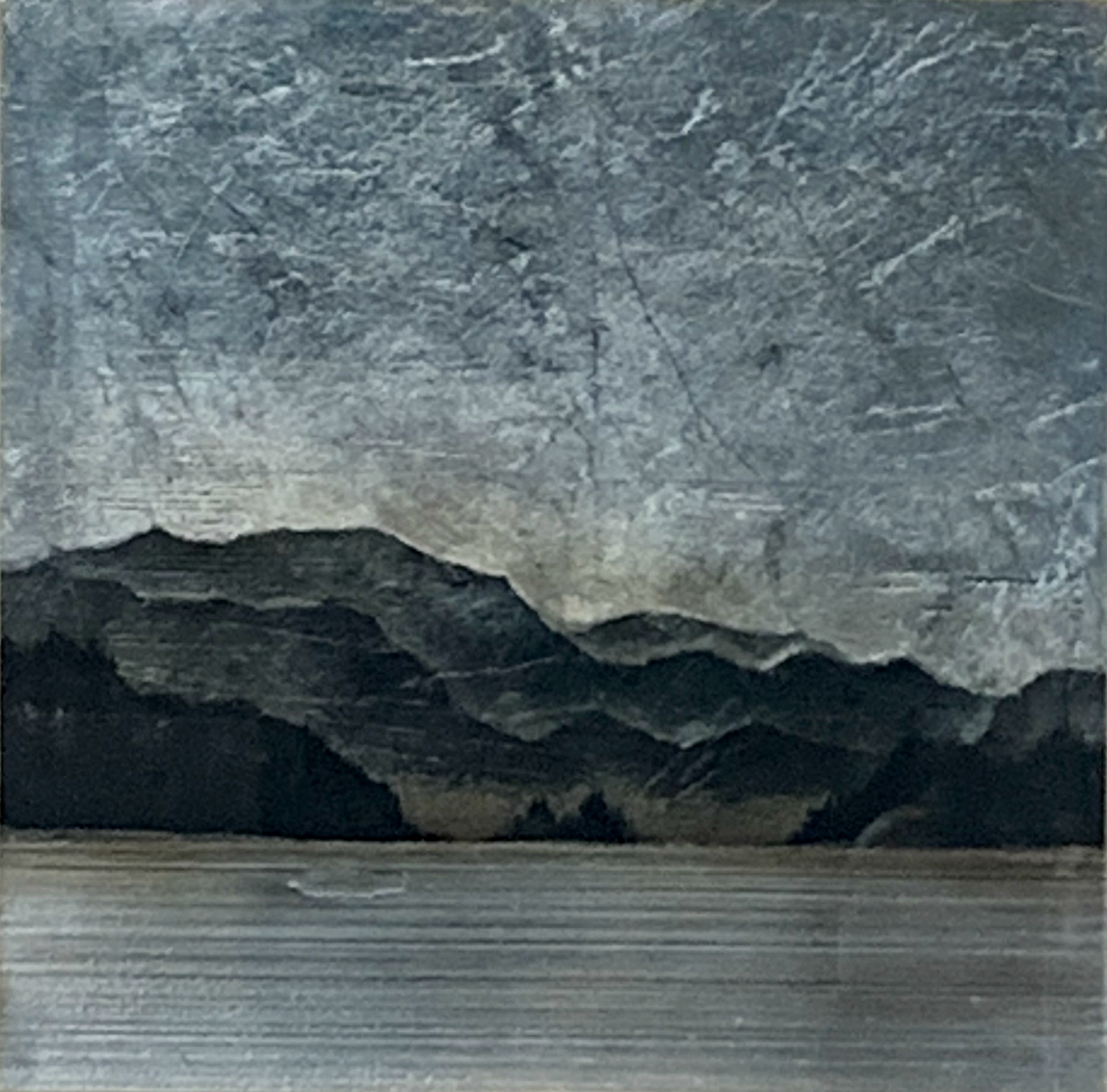 557, mixed media landscape painting by David Graff | Effusion Art Gallery + Cast Glass Studio, Invermere BC