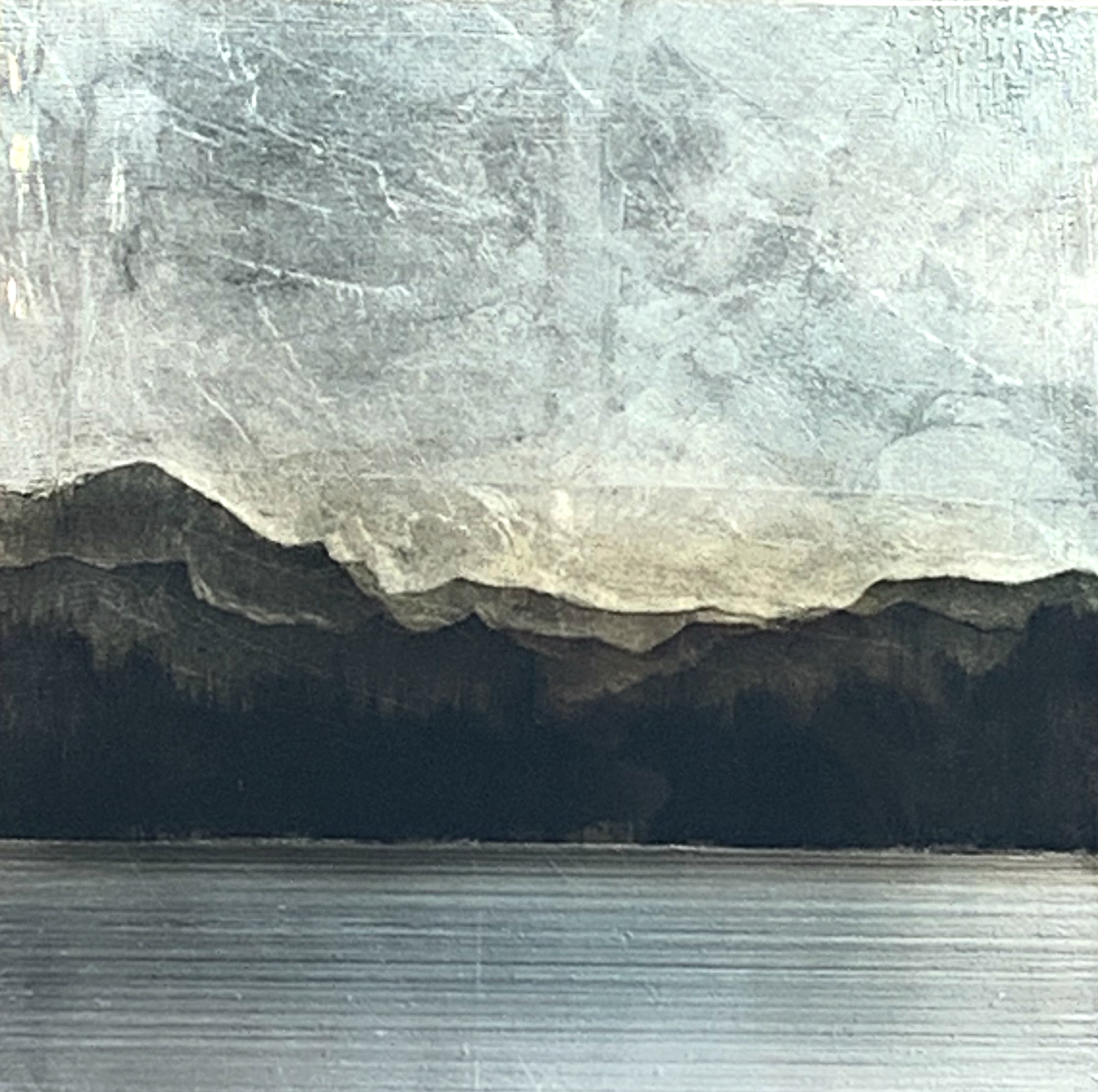 558, mixed media landscape painting by David Graff | Effusion Art Gallery + Cast Glass Studio, Invermere BC