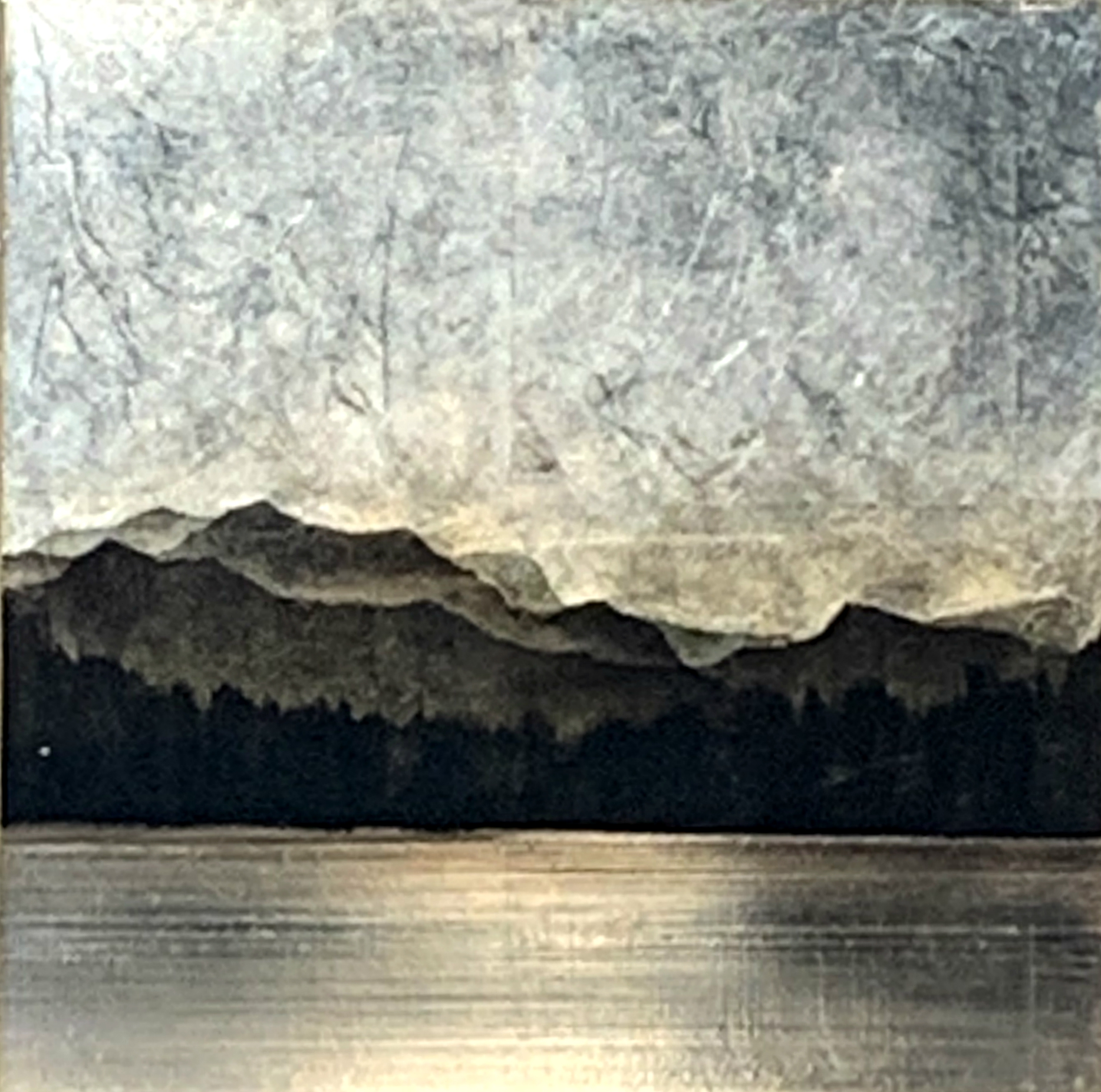 559, mixed media landscape painting by David Graff | Effusion Art Gallery + Cast Glass Studio, Invermere BC