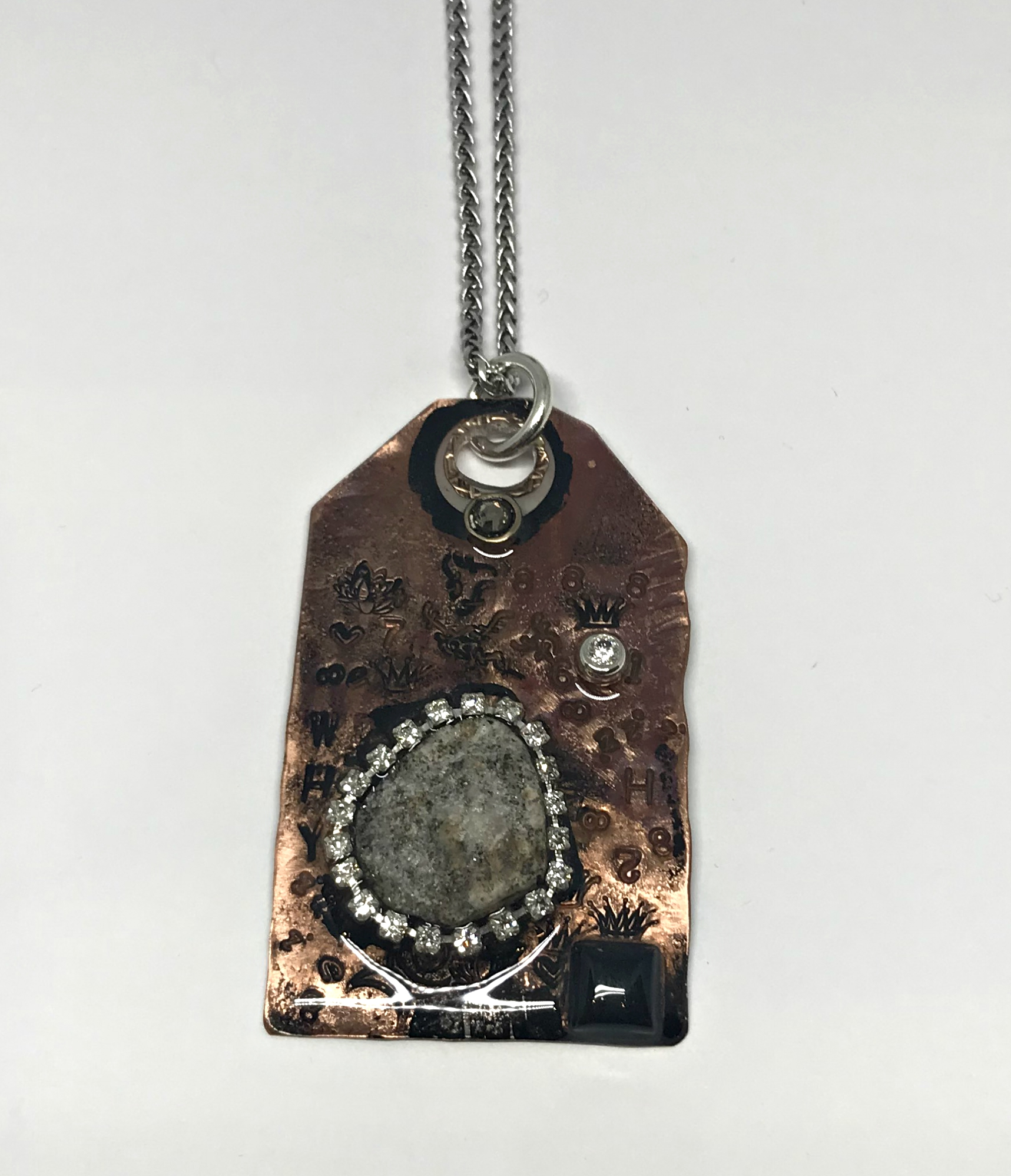 Cave Art Necklace by Karyn Chopik | Effusion Art Gallery + Cast Glass Studio, Invermere BC