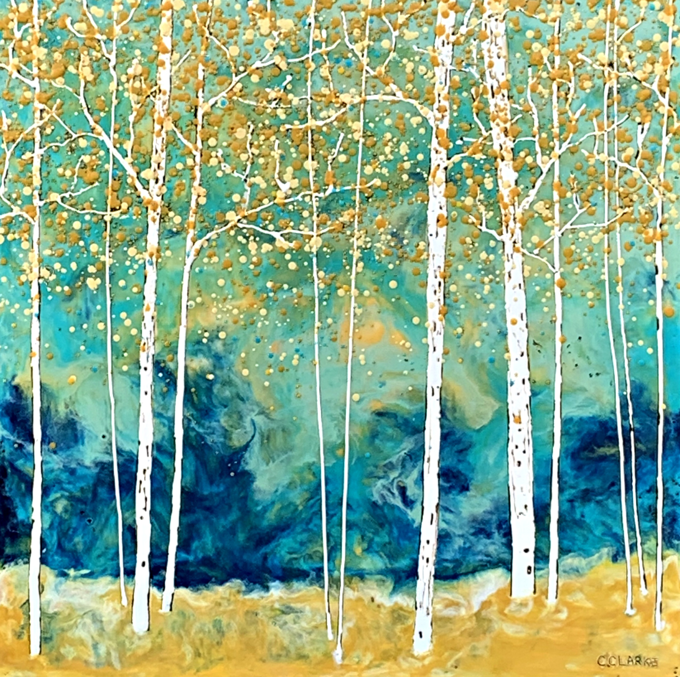 Don't Follow Harry, encaustic painting by Catharine Clarke | Effusion Art Gallery + Cast Glass Studio, Invermere BC