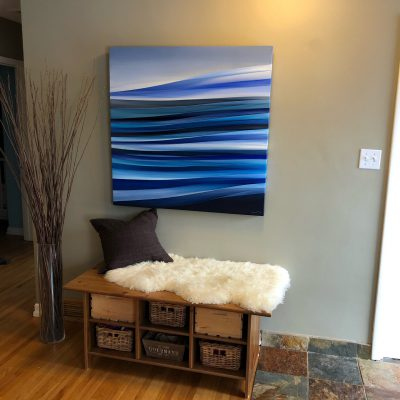 Plénitude by Mélanie Giguère, installed in its beautiful new home   Effusion Art Gallery + Cast Glass Studio, Invermere BC
