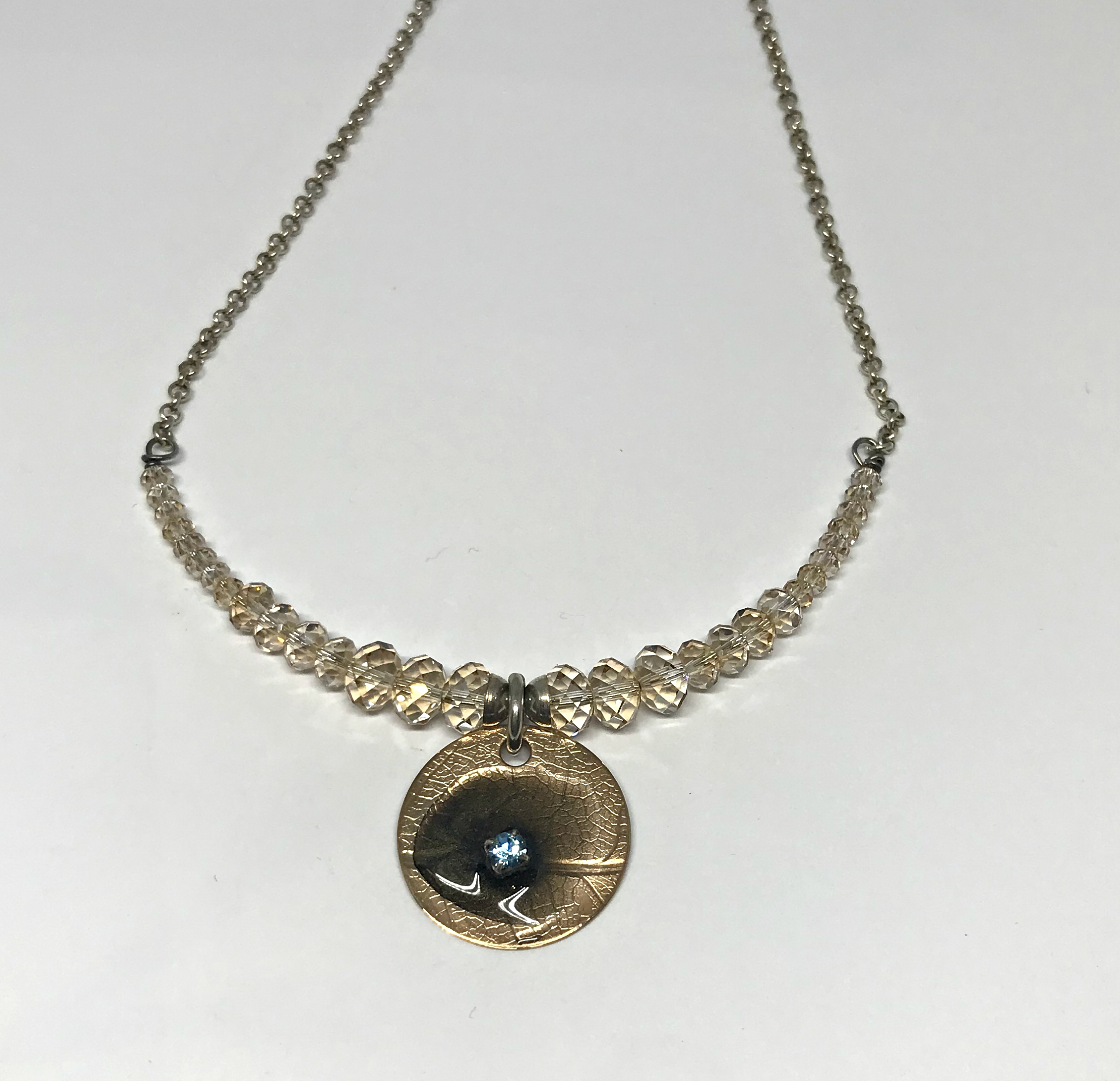 Golden Shadow Necklace by Karyn Chopik   Effusion Art Gallery + Cast Glass Studio, Invermere BC