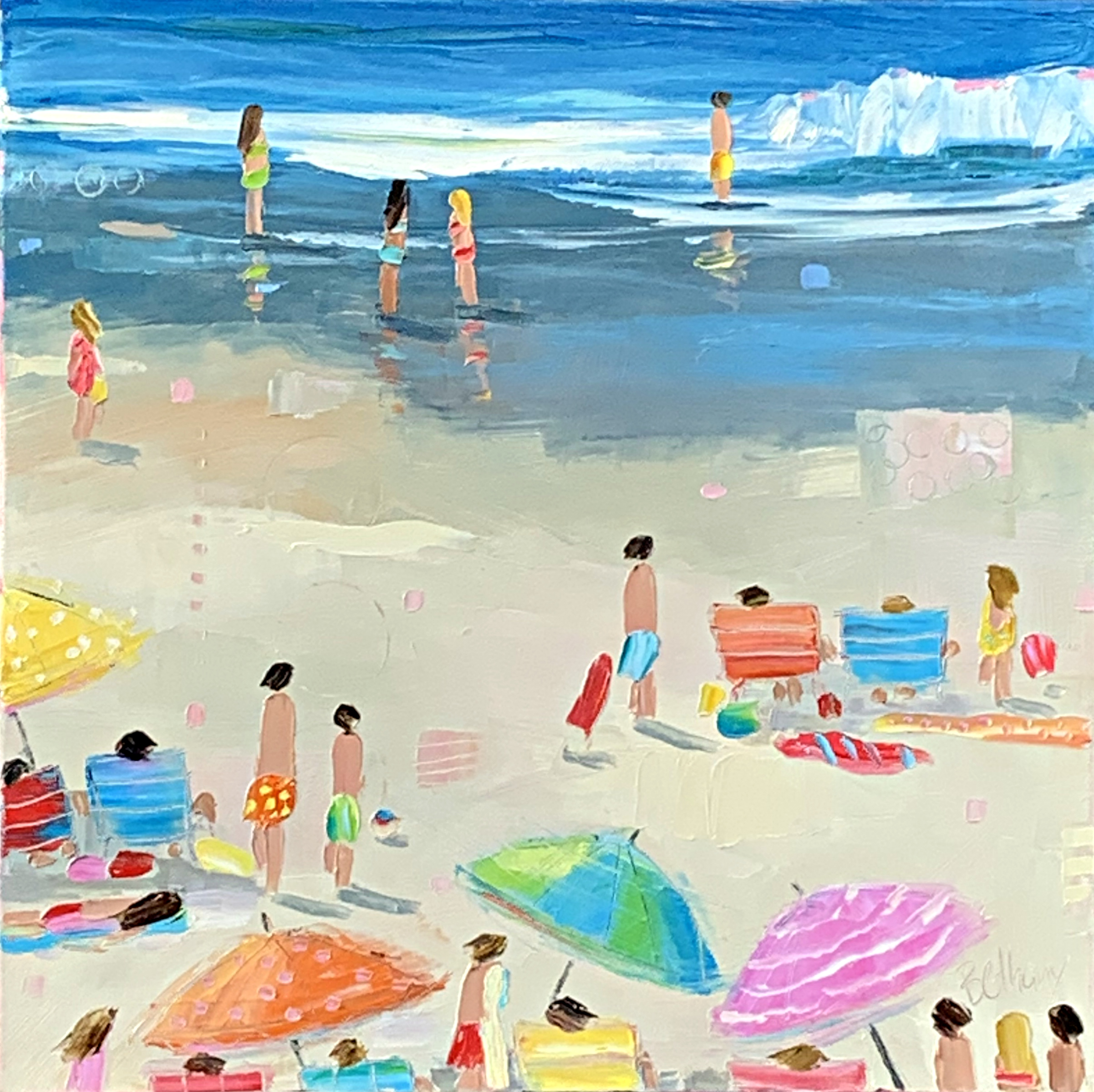 Beach Memories, beach landscape painting by Bethany Harper Williams | Effusion Art Gallery + Glass Studio, Invermere BC