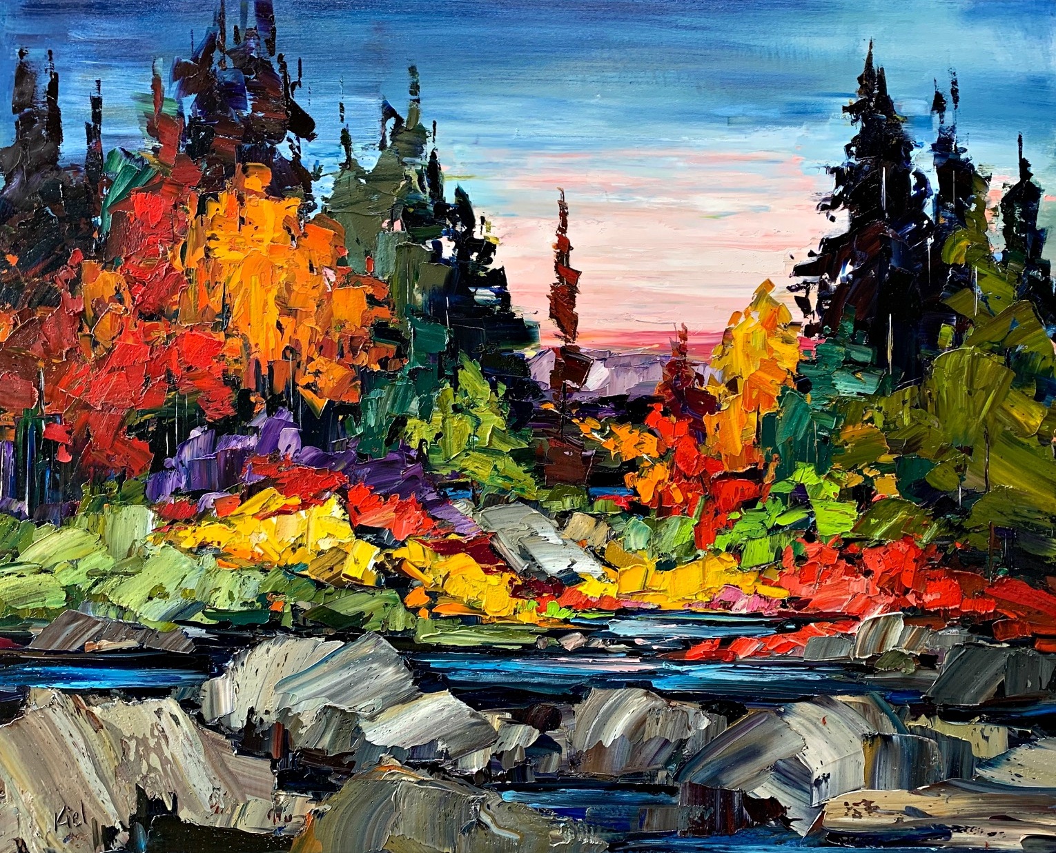 A Million Reasons Why, landscape painting by Kimberly Kiel | Effusion Art Gallery + Cast Glass Studio, Invermere BC