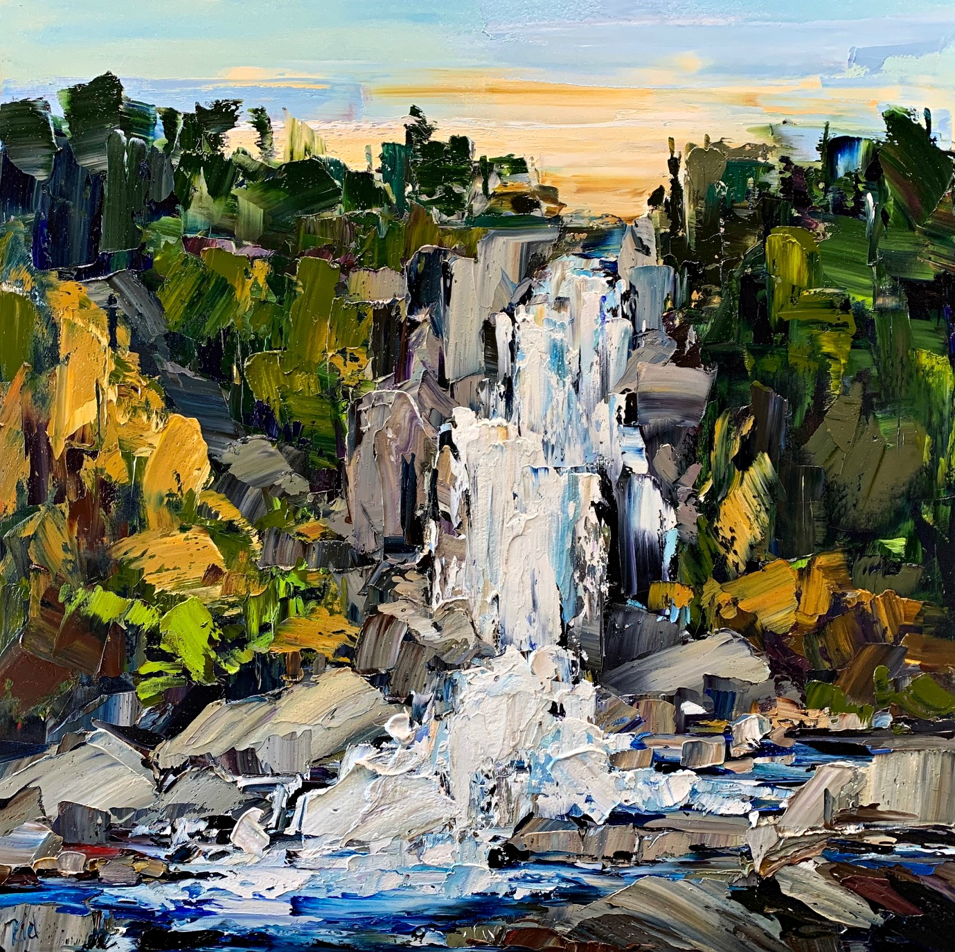 Falling Waters by Kimberly Kiel | Effusion Art Gallery + Glass Studio, Invermere BC