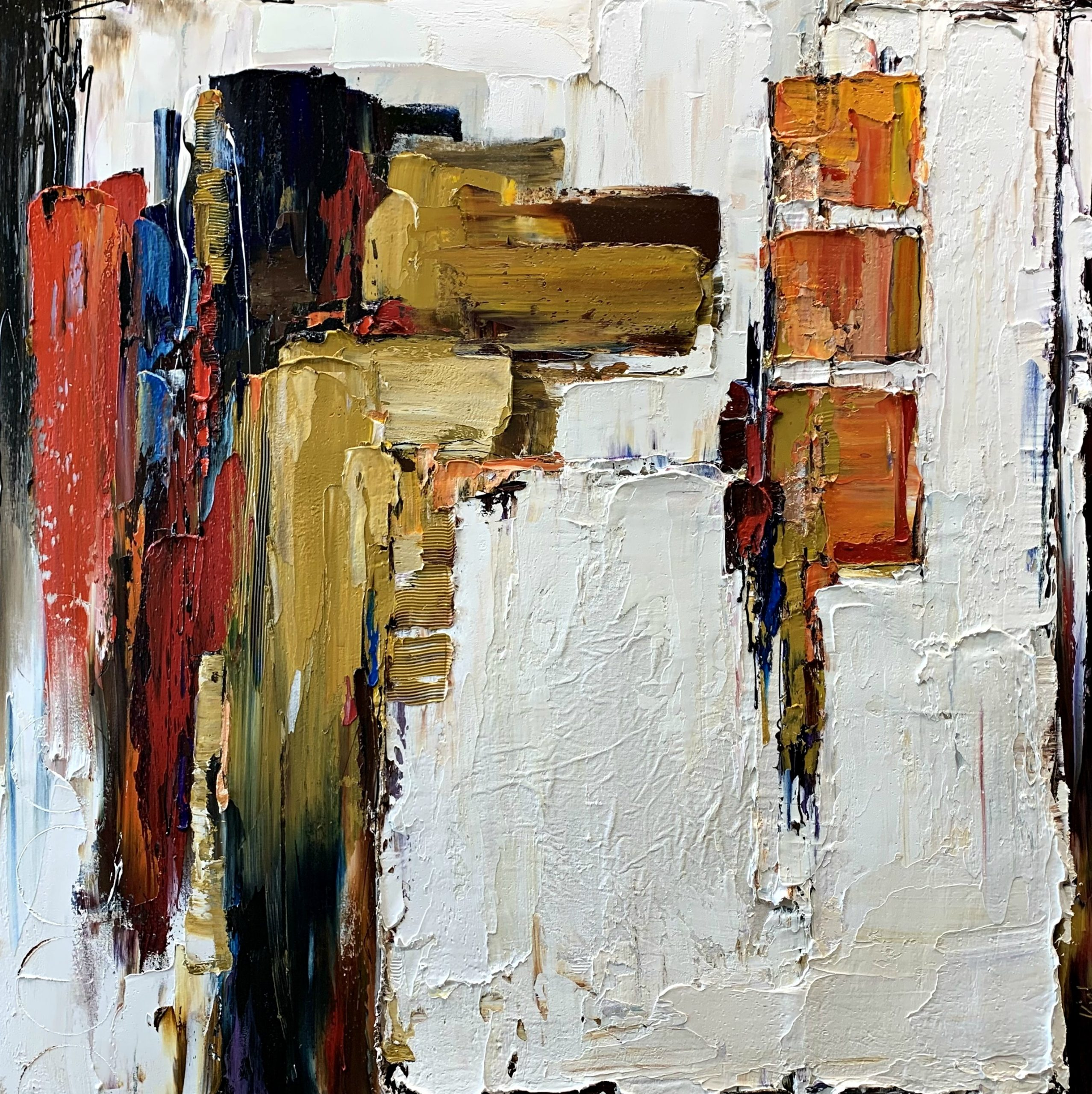 Here and Gone, abstract painting by Kimberly Kiel | Effusion Art Gallery + Cast Glass Studio, Invermere BC