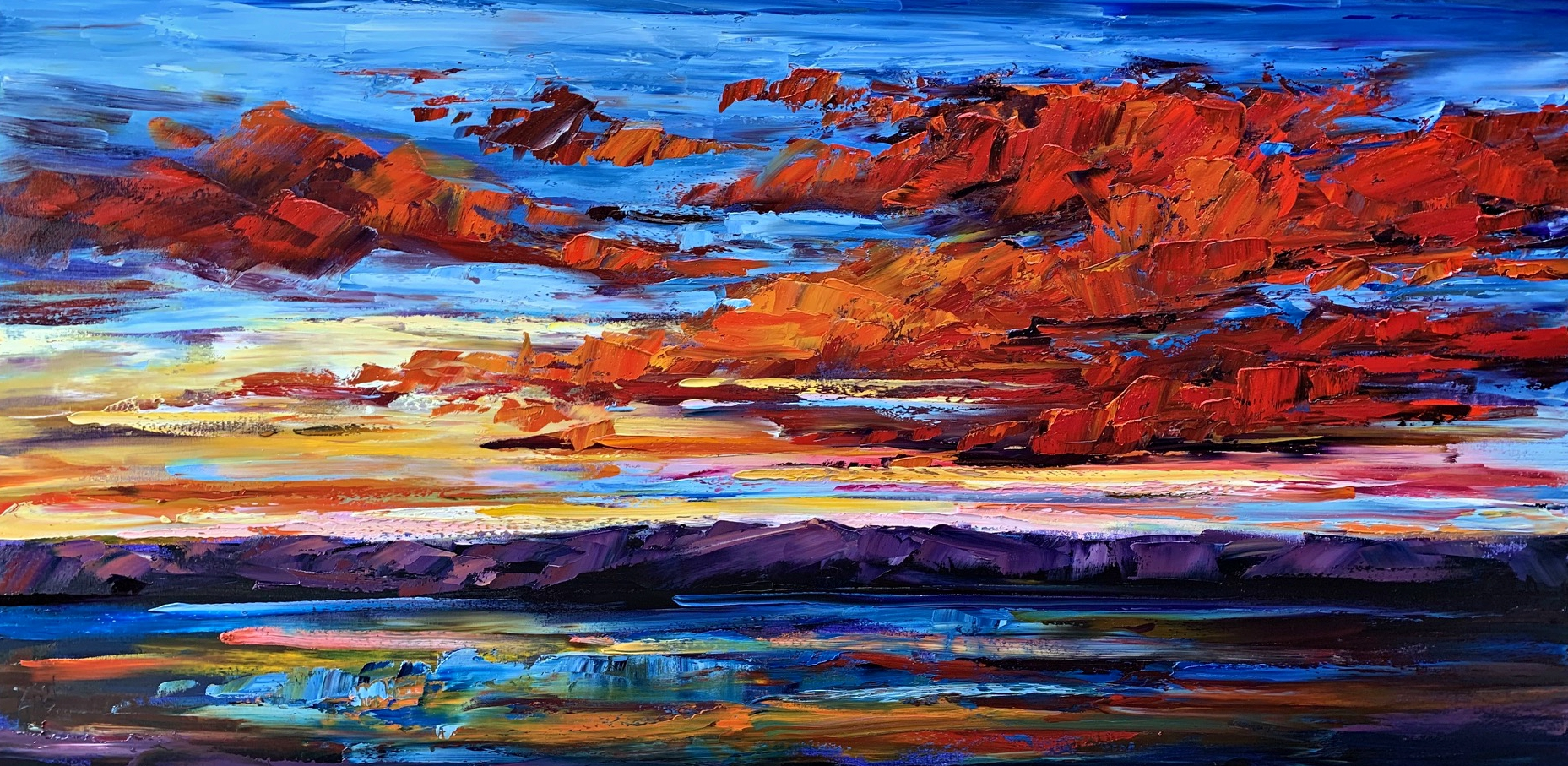 Where the Sunshine Switches Places with the Moon by Kimberly Kiel | Effusion Art Gallery + Glass Studio, Invermere BC