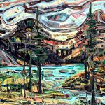Bow Lake, Banff National Park Canada by Sandy Kunze | Effusion Art Gallery + Glass Studio, Invermere BC