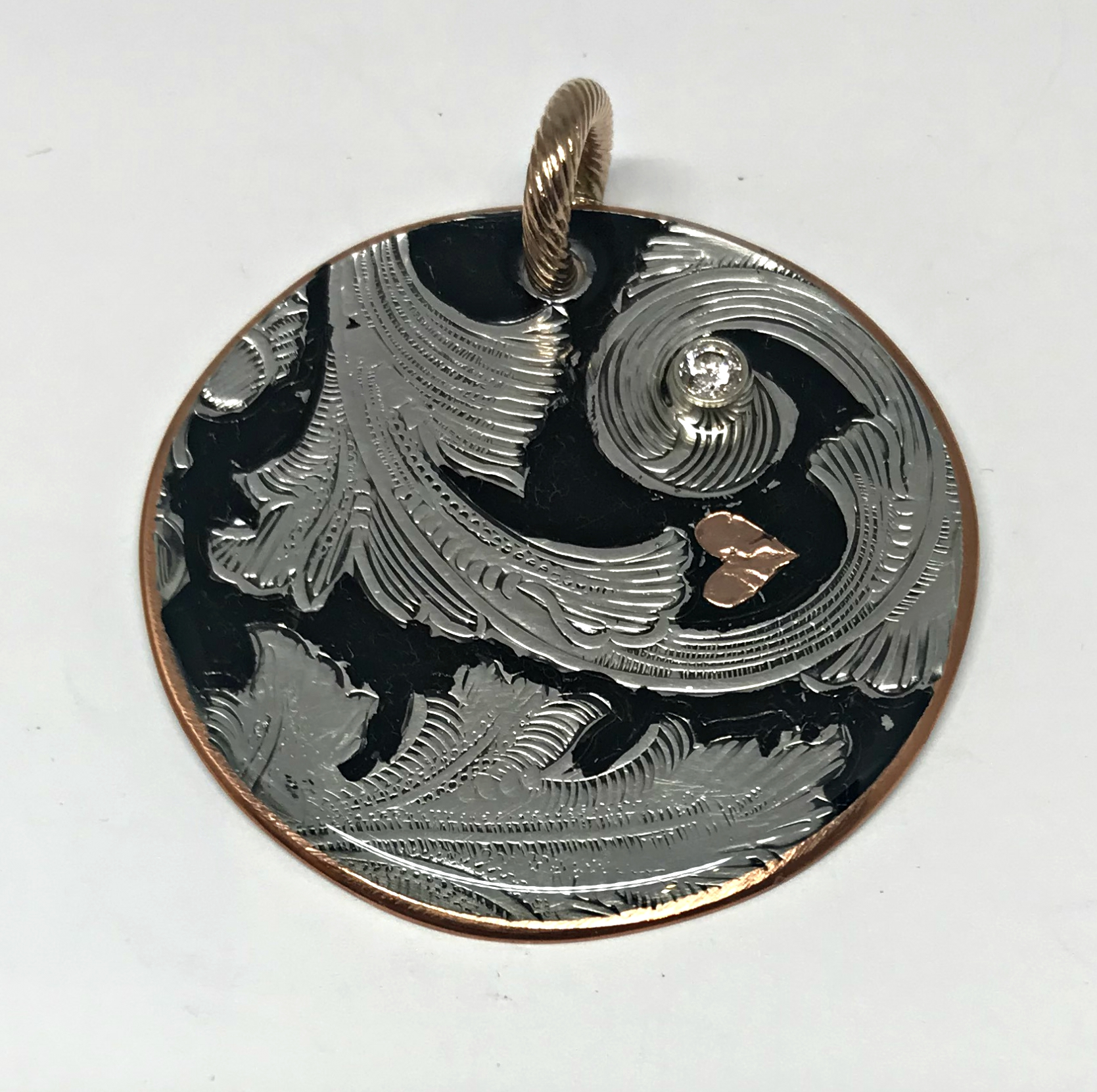 Life on a Silver Platter #4 pendant by Karyn Chopik | Effusion Art Gallery + Cast Glass Studio, Invermere BC