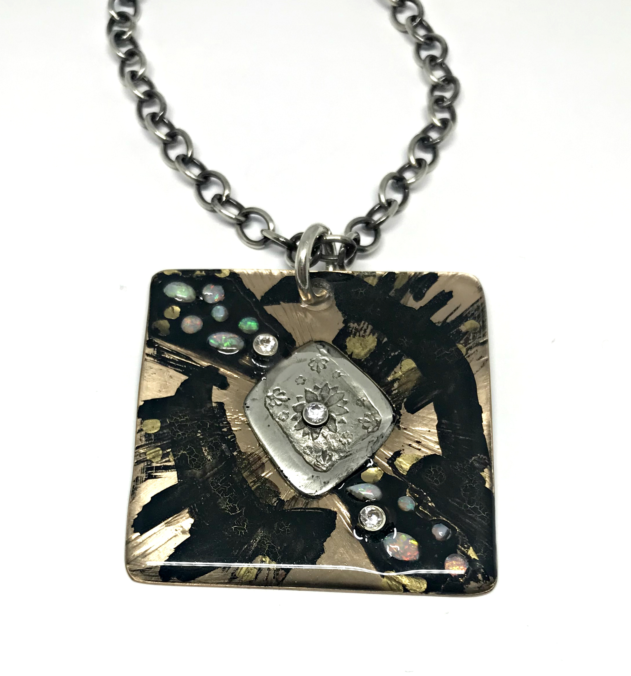 Starry Night Necklace by Karyn Chopik | Effusion Art Gallery + Cast Glass Studio, Invermere BC