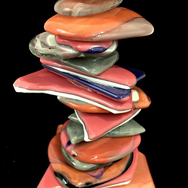 Rocky Mountain Cairn 81, cast glass sculpture by Heather Cuell   Effusion Art Gallery + Cast Glass Studio, Invermere BC
