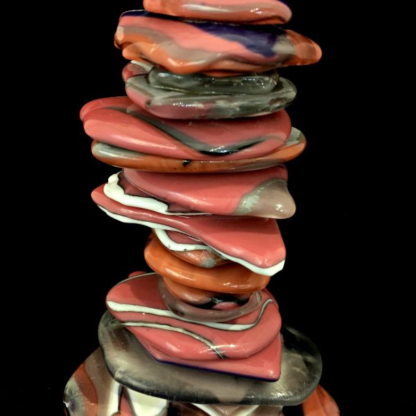 Rocky Mountain Cairn 82, cast glass sculpture by Heather Cuell   Effusion Art Gallery + Cast Glass Studio, Invermere BC