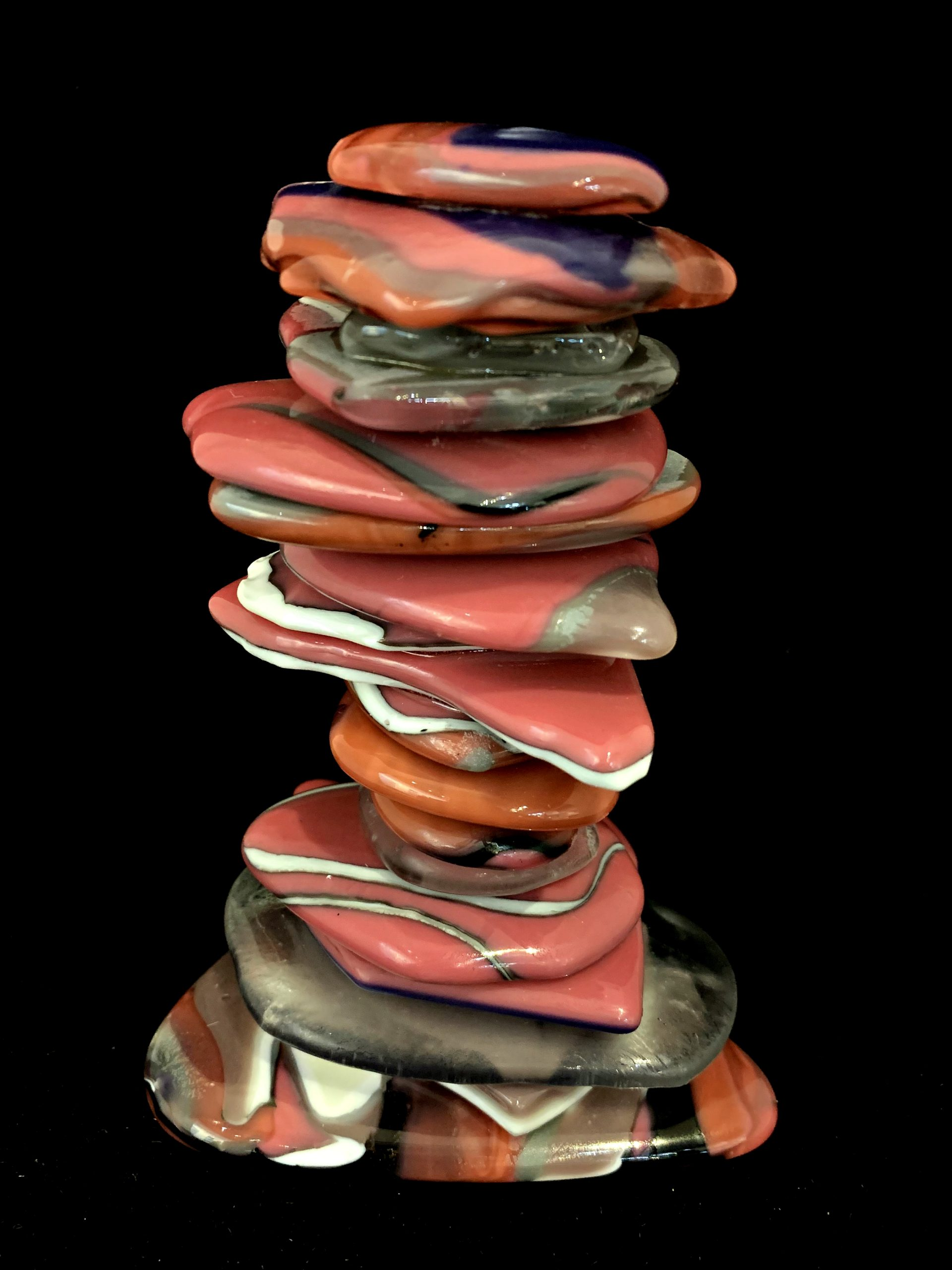Rocky Mountain Cairn 82, cast glass sculpture by Heather Cuell | Effusion Art Gallery + Cast Glass Studio, Invermere BC