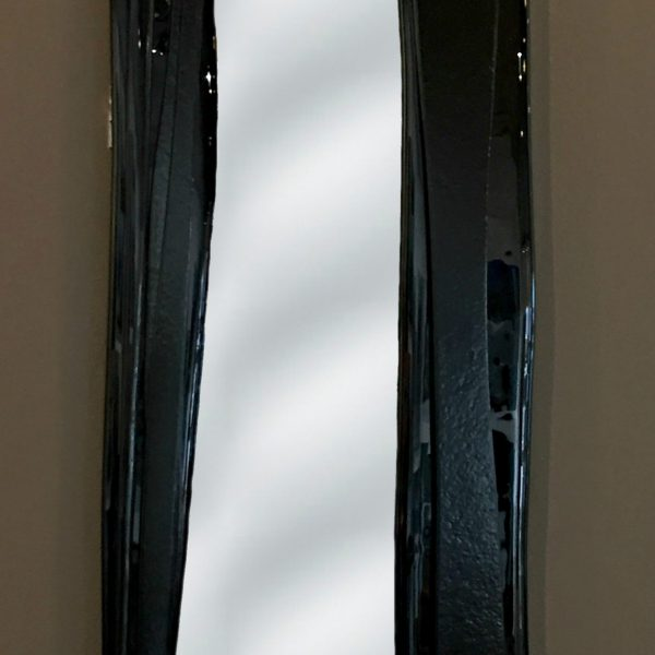 Reflections 6, cast glass mirror by Heather Cuell | Effusion Art Gallery + Cast Glass Studio, Invermere BC