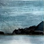 Blue on Blue, mixed media landscape painting by David Graff | Effusion Art Gallery + Cast Glass Studio, Invermere BC