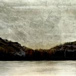 Fading Light, mixed media landscape painting by David Graff   Effusion Art Gallery + Cast Glass Studio, Invermere BC