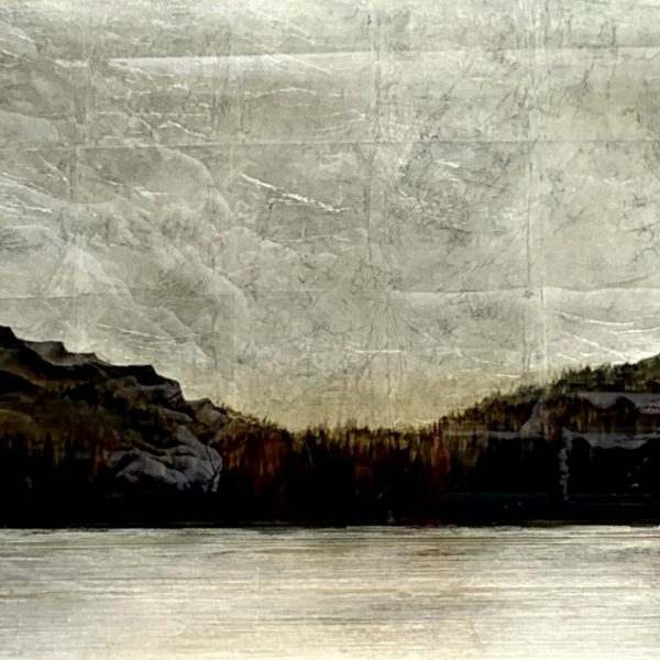 Fading Light, mixed media landscape painting by David Graff | Effusion Art Gallery + Cast Glass Studio, Invermere BC