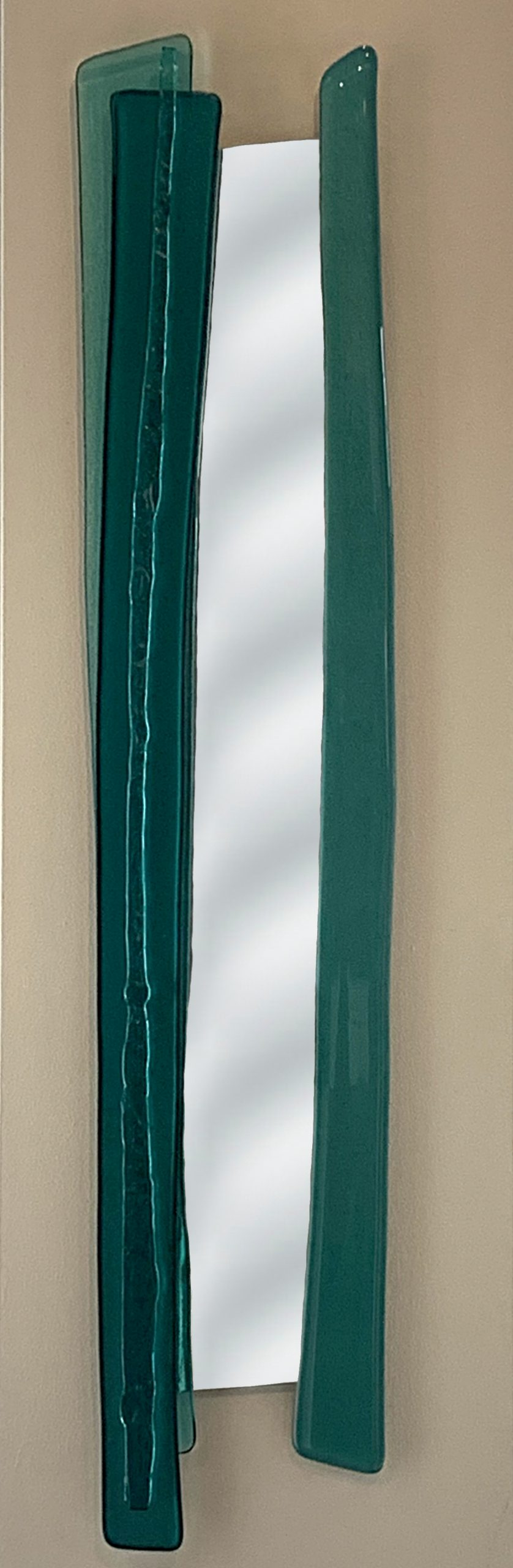 Reflections 8, cast glass mirror by Heather Cuell | Effusion Art Gallery + Cast Glass Studio, Invermere BC