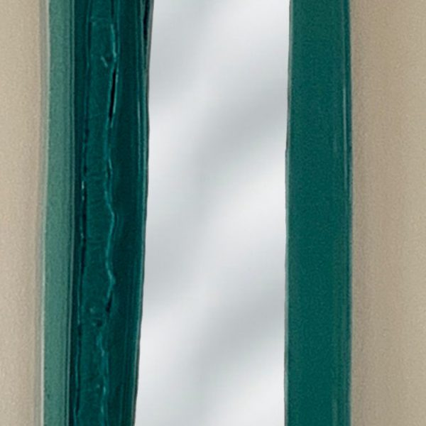 Reflections 9, cast glass mirror by Heather Cuell | Effusion Art Gallery + Cast Glass Studio, Invermere BC