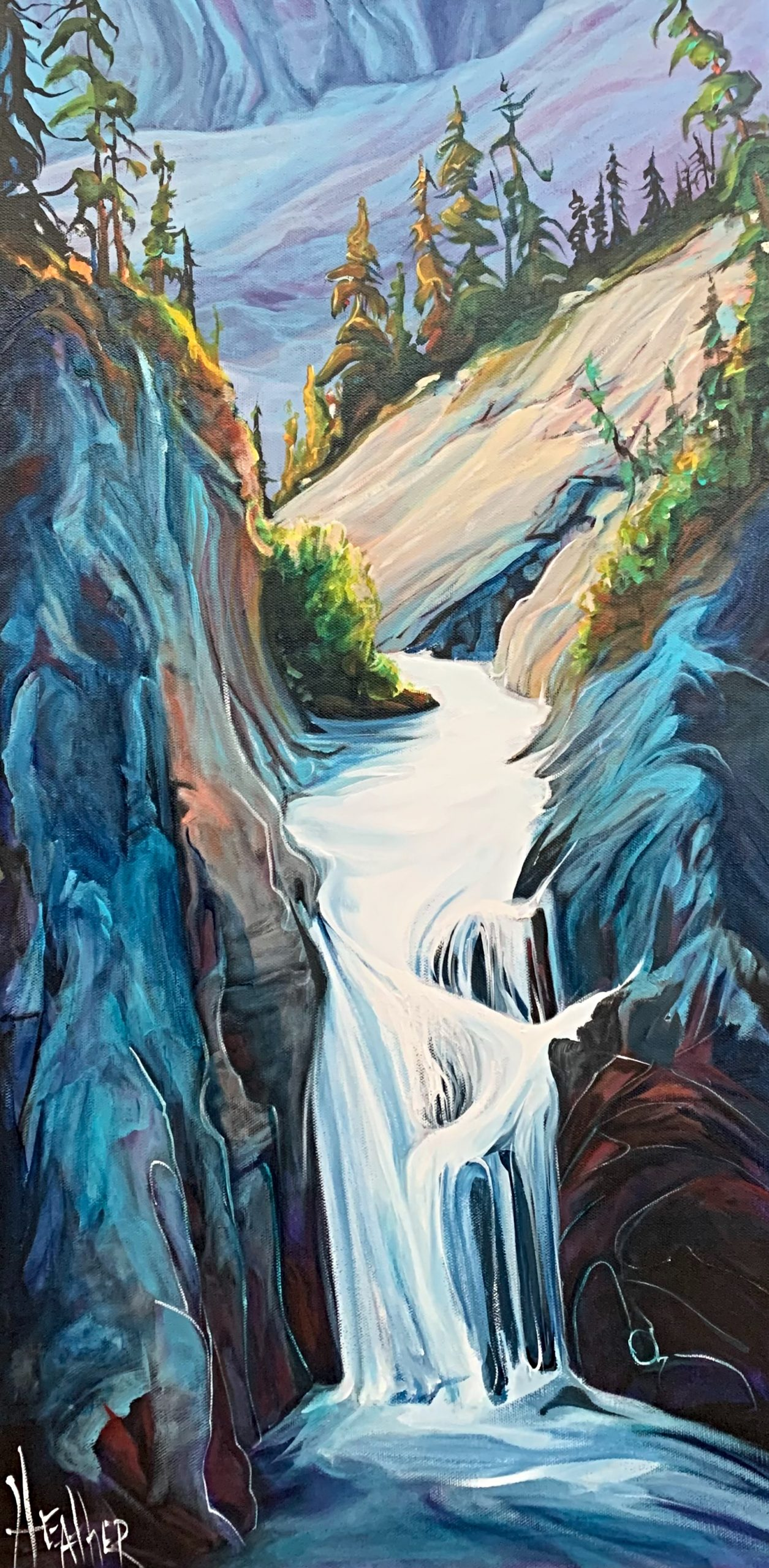 My Endless, landscape painting by Heather Pant | Effusion Art Gallery + Cast Glass Studio, Invermere BC