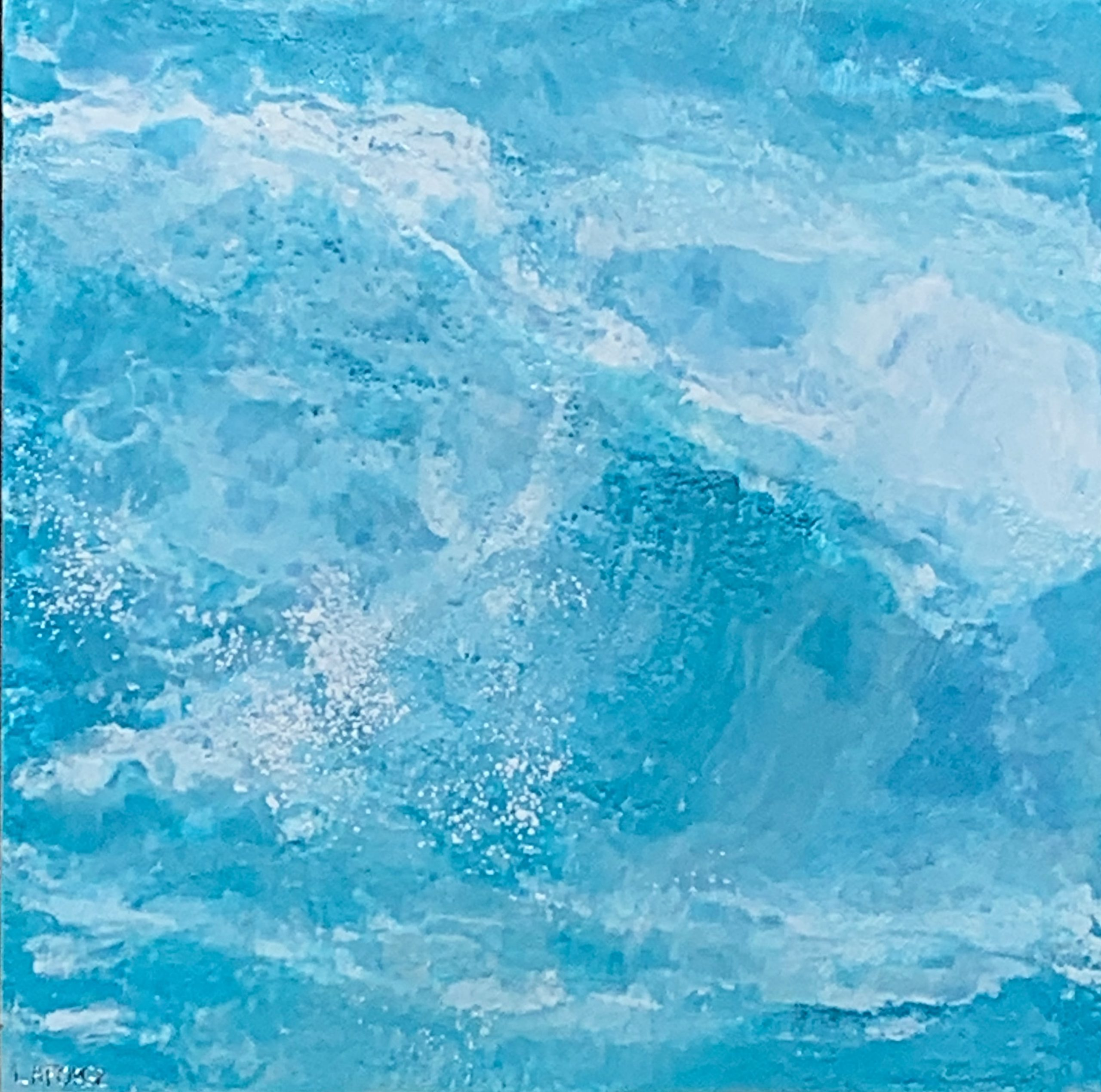 The Big Surf, encaustic ocean painting by Lee Anne LaForge | Effusion Art Gallery + Cast Glass Studio, Invermere BC