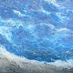 The Sea, encaustic ocean painting by Lee Anne LaForge | Effusion Art Gallery + Cast Glass Studio, Invermere BC