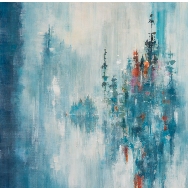 Believing, acrylic landscape painting by Gina Sarro | Effusion Art Gallery + Cast Glass Studio, Invermere BC