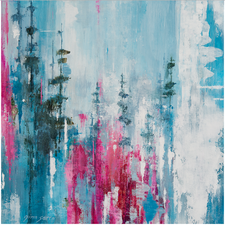 Persistence, acrylic landscape painting by Gina Sarro | Effusion Art Gallery + Cast Glass Studio, Invermere BC